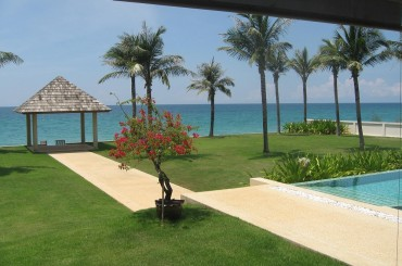 View from beach front villa in Natai