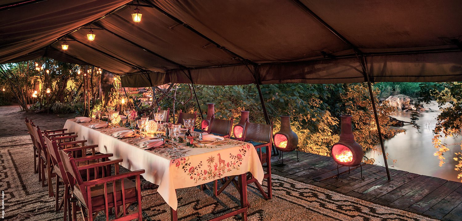 Fine dining in the bush at Ol Jogi private safari in Kenya