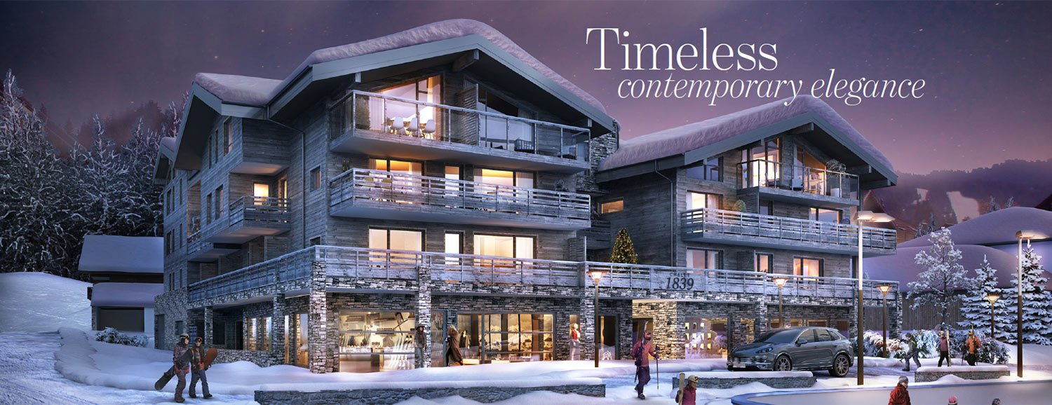 Newbuilt luxury apartments in the French Alps