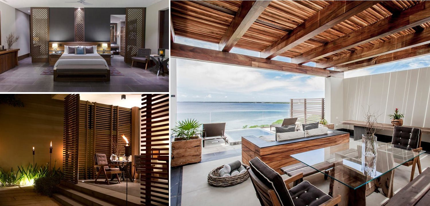 Collage of images of the ocean suite and penthouse suite
