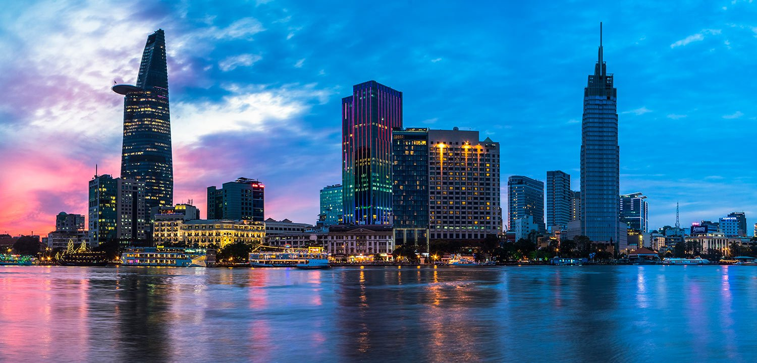 The Reverie Saigon at Sunset