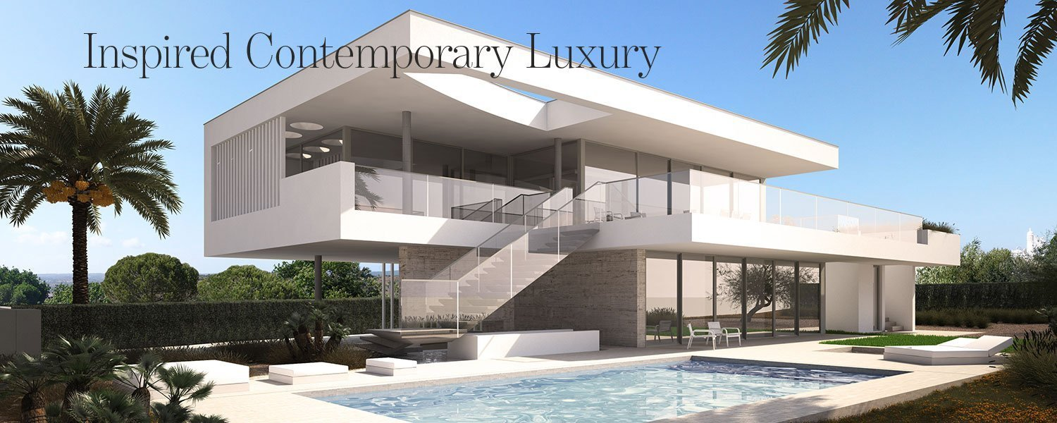 Lead image for article about new modern villa in Praia da Luz, Algarve