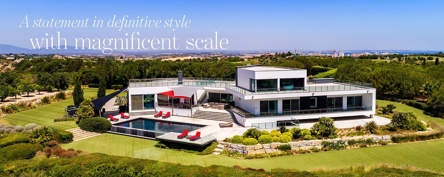 A statement in definitive style with magnificent scale - magnificent golf villa in Western Algarve