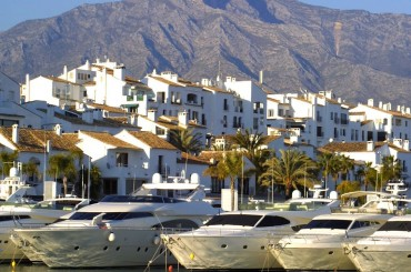The yacht harbour in Puerto Banus