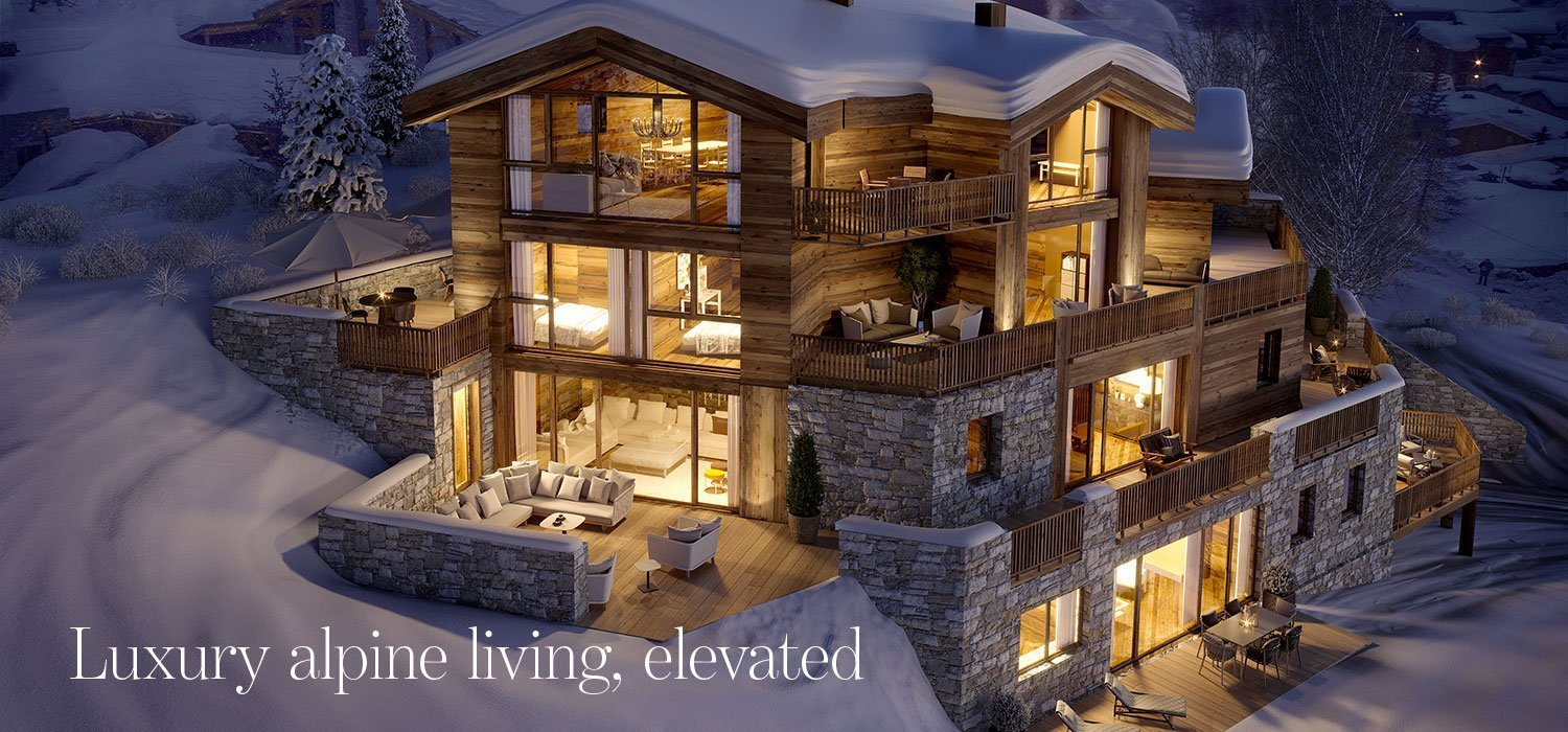 Luxury alpine living, elevated - newly built Val d'Isere chalet apartments for sale