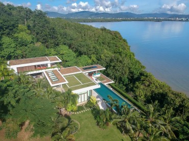 Aerial of super villa in Phuket