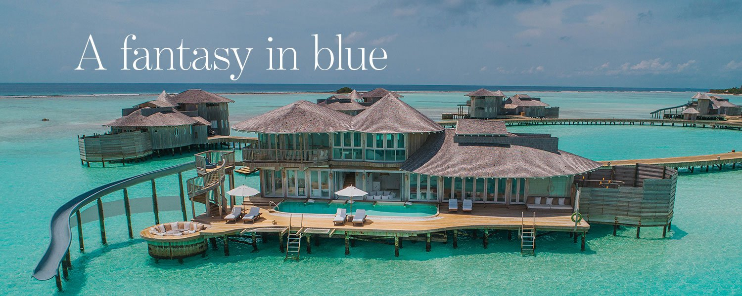 A fantasy in blue - luxury property for sale in the Maldives