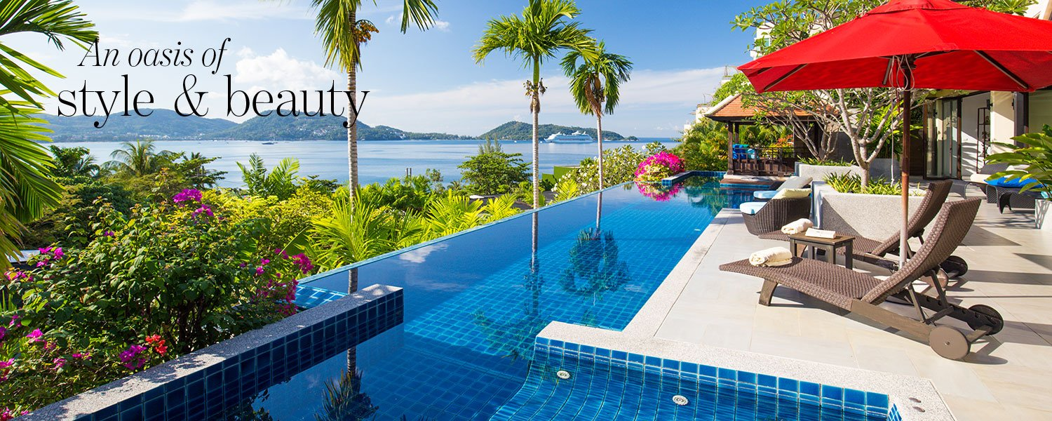 An oasis of style & beauty - Luxurious oceanview villa in Phuket with a gorgeous pool