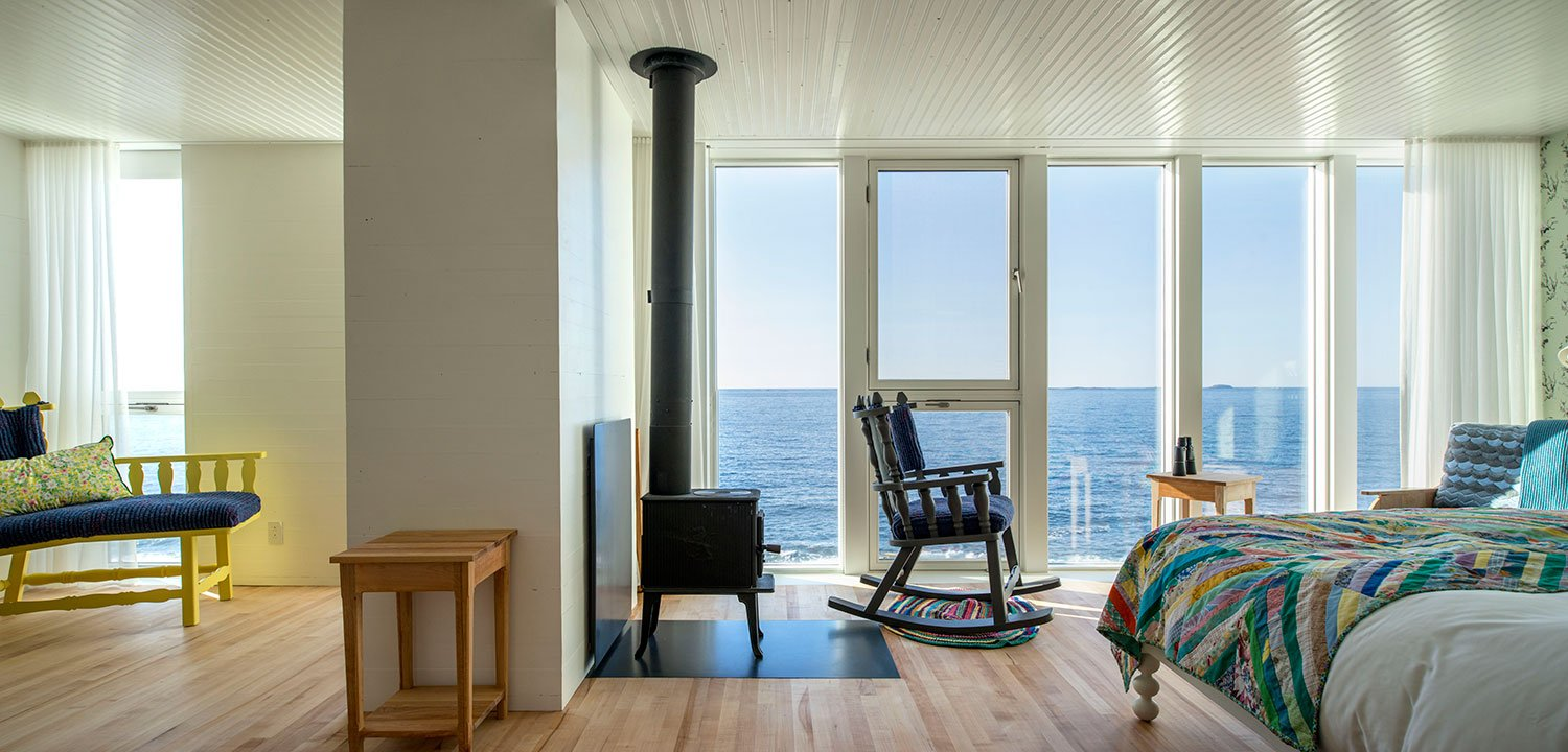 Room 19 with floor to ceiling windows providing unobstructed ocean views