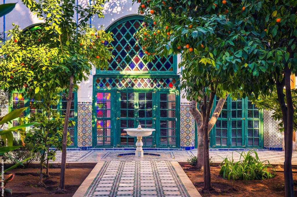 Riad garden in Marrakech, Morocco
