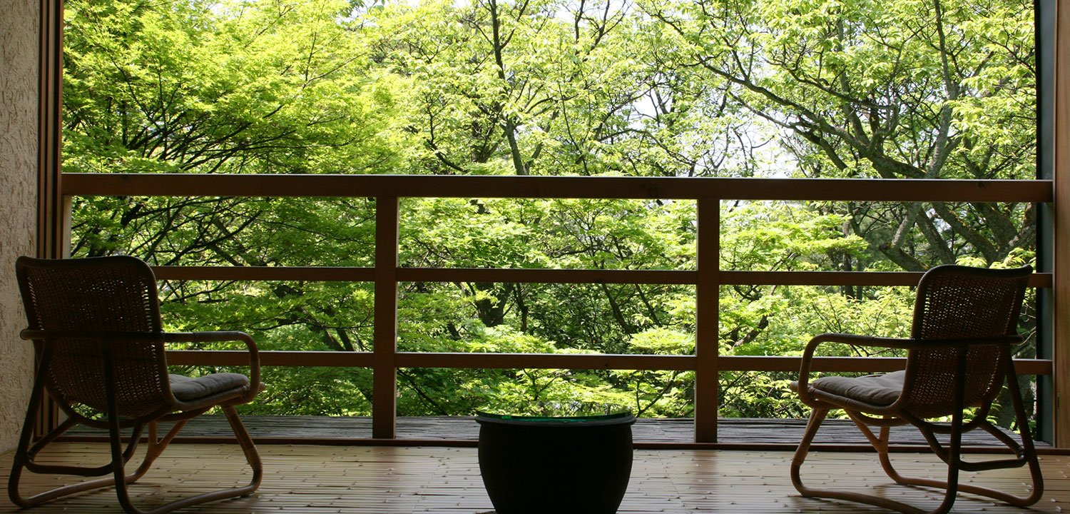 Balcony in the Wakamurasaki suite