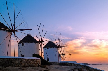 Windmills on Mykonos Greece