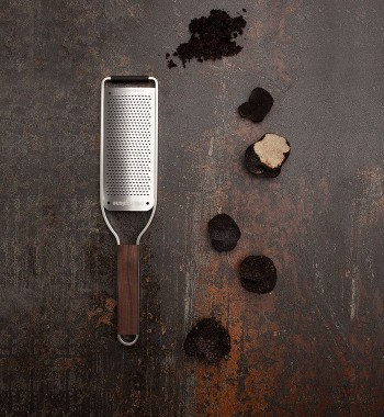 Microplane grater and truffles