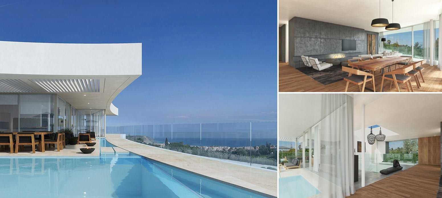 Image collage of new luxury property in Praia da Luz in Algarve