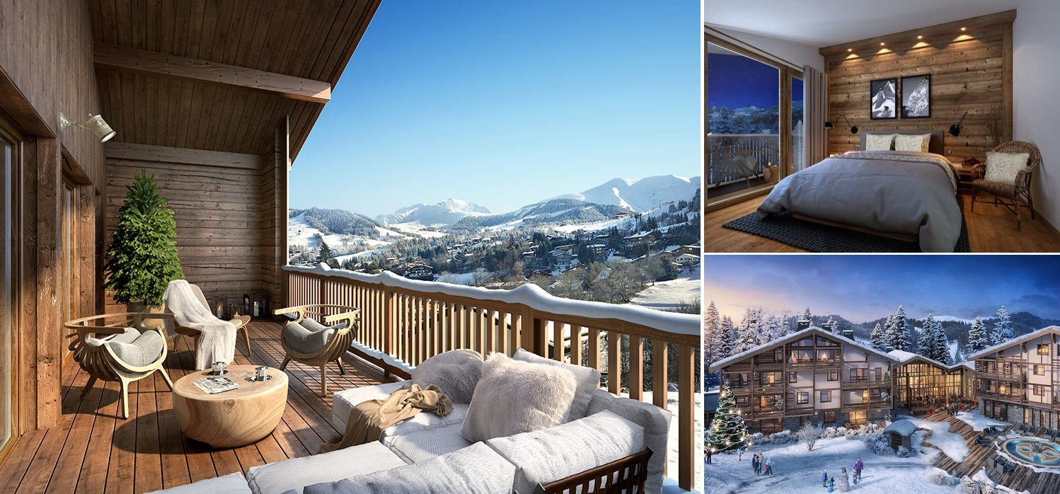 Image composition luxury apartment in Megeve