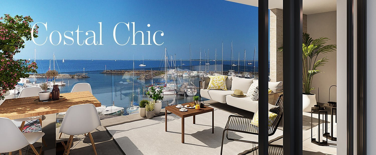 Coastal Chic - luxury apartments overlooking the harbour in Marseillan in Languedoc
