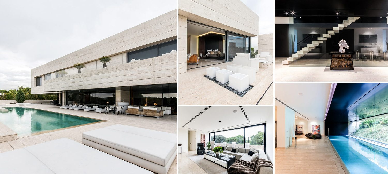 Image collage - images from exclusive contemporary villa in La Finca Madrid