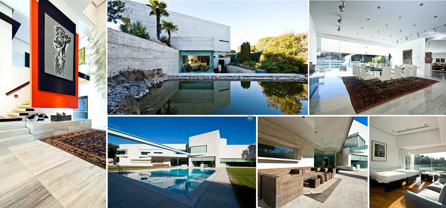 Image composition of contemporary villa in Pozuelo de Alarcon in Madrid