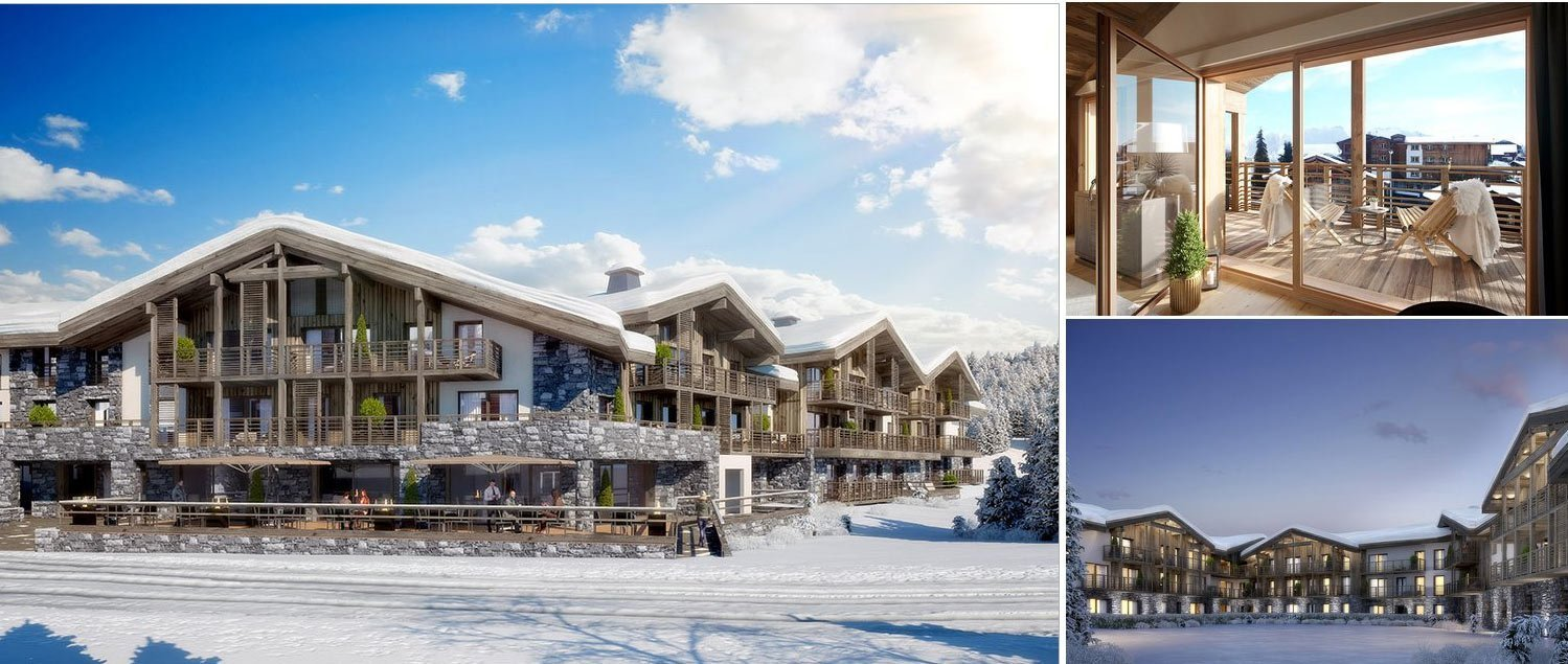 Collage luxury resort living in Les Gets French Alps