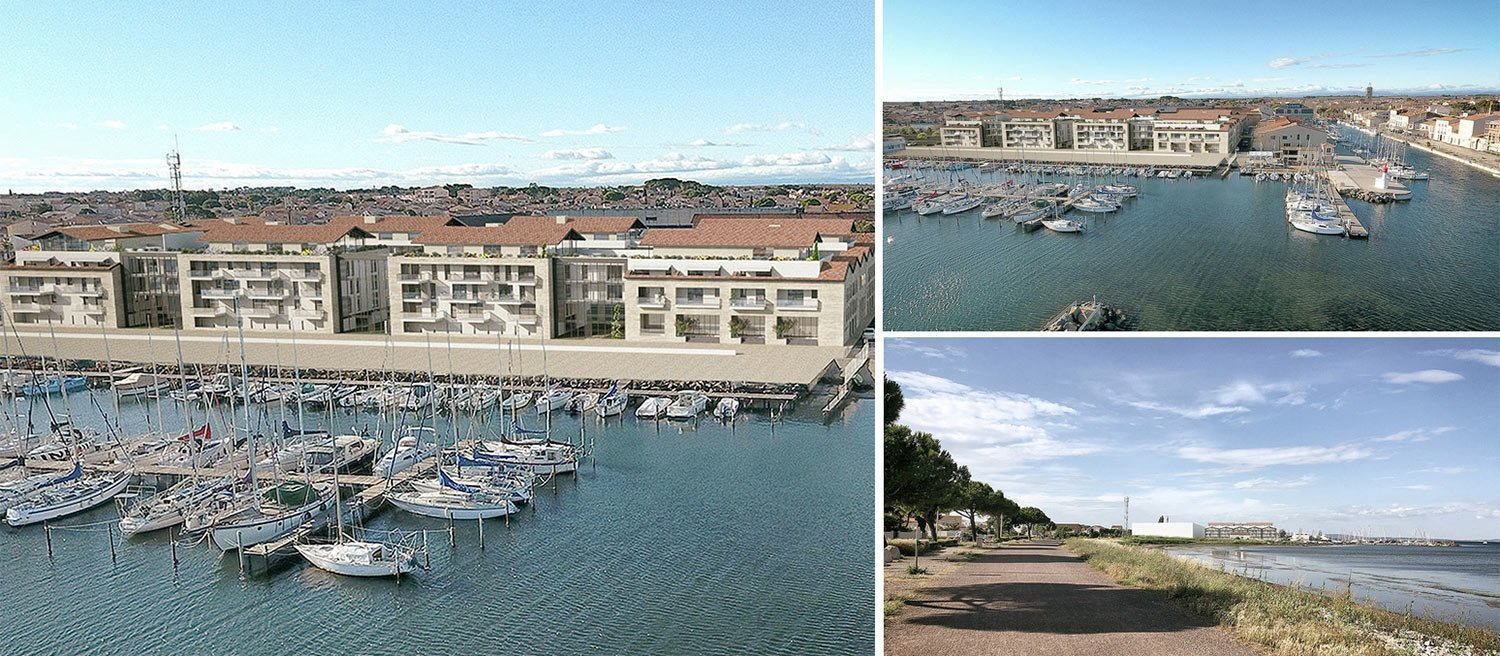 New apartments in Marseillan overlooking the harbour