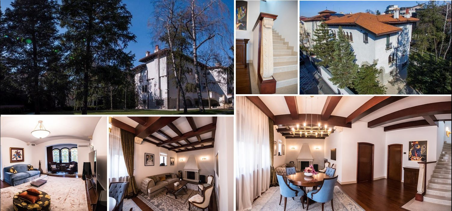 Image collage exclusive house for sale in Primaverii, Bucharest, Romania