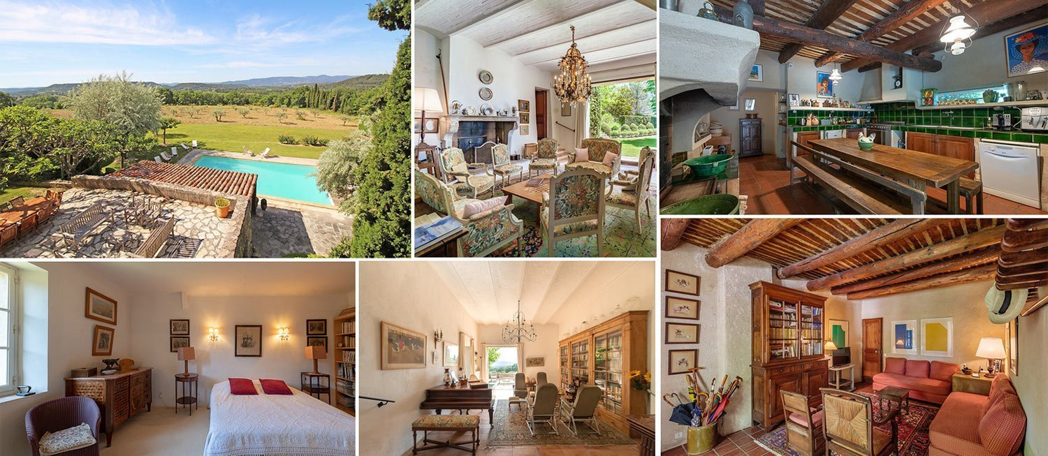 image collage of refurbished traditional house in Luberon