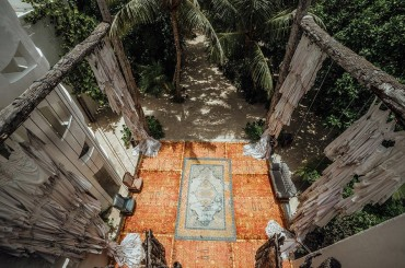 Casa Malca is a 71-room art-centric beachfront hotel on the Riviera Maya in Mexico