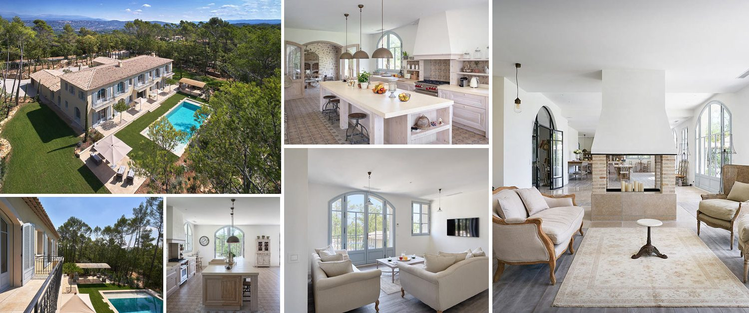 Image collage luxury villa for sale at Terre Blanche in Provence