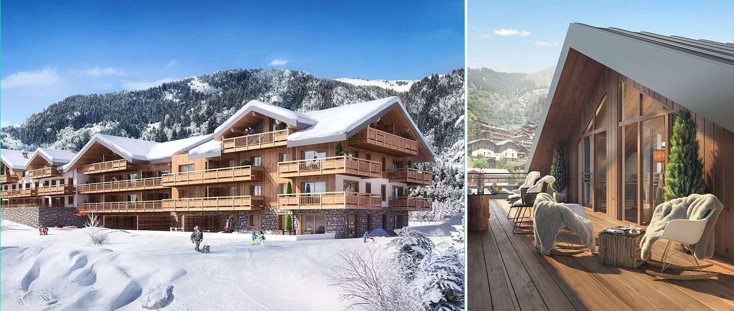 New ski apartments for sale in La Plagne French Alp