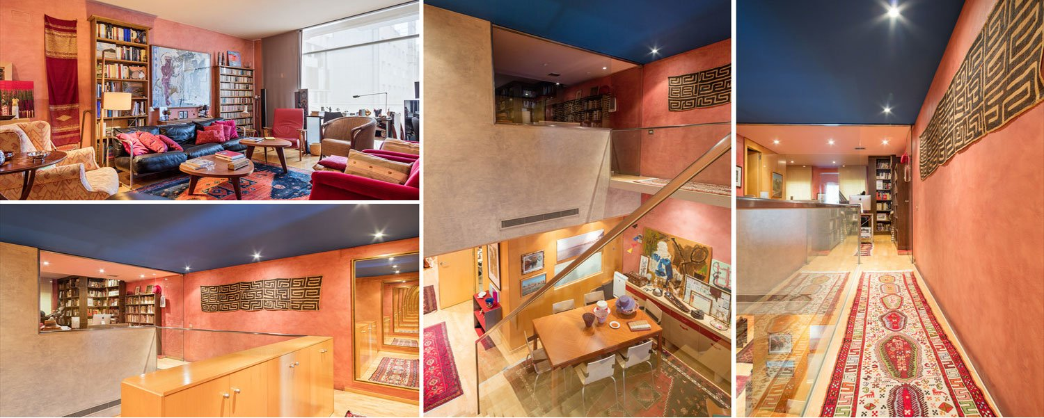 collage of images of luxury apartment in Passeig de Gracia Barcelona