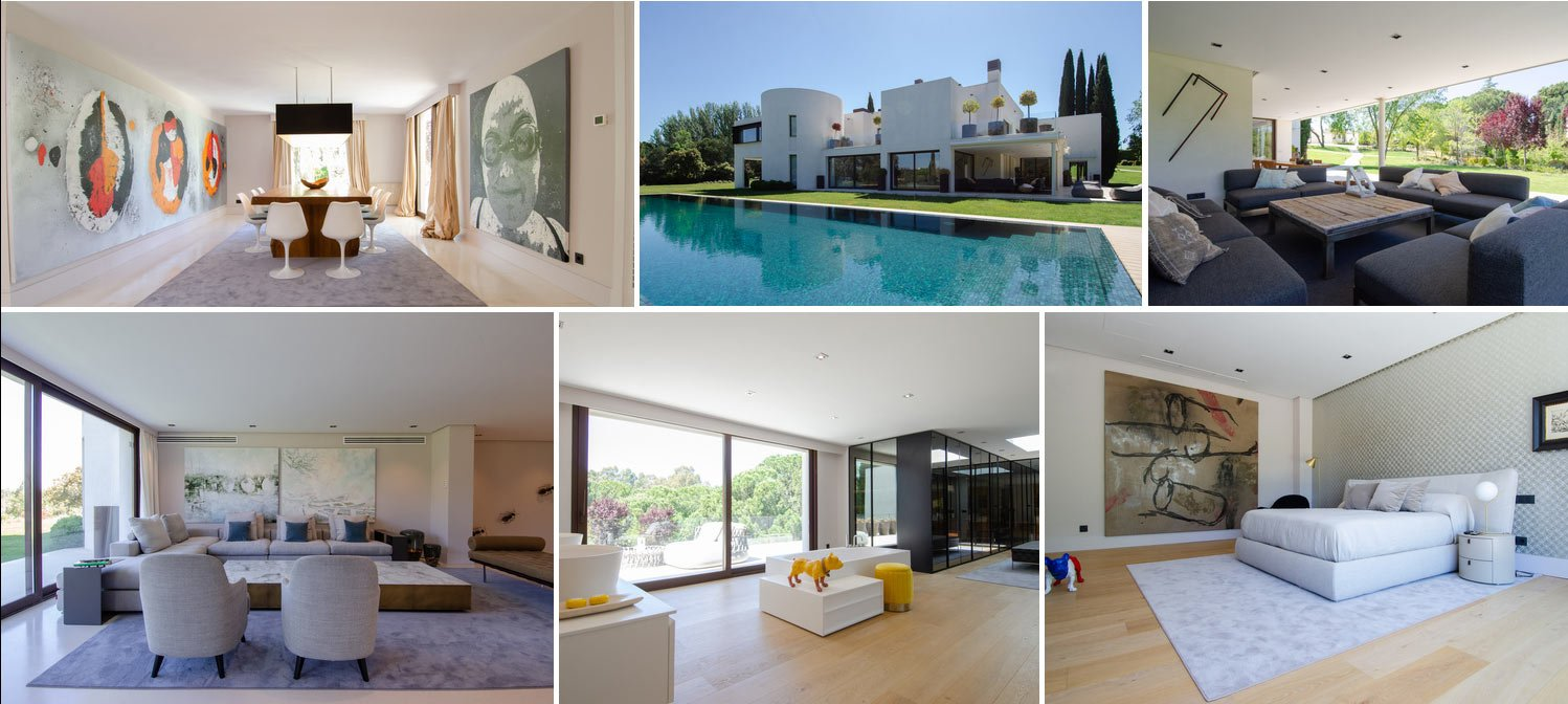 Collage of modern home in La Moraleja