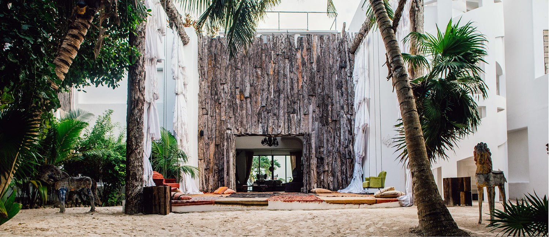 Main entrance Casa Malca Hotel Riviera Maya