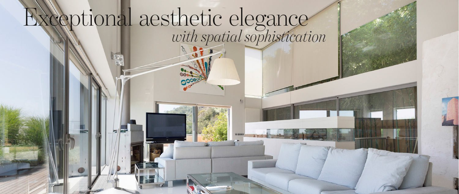 Exceptional aesthetic elegance with spatial sophistication