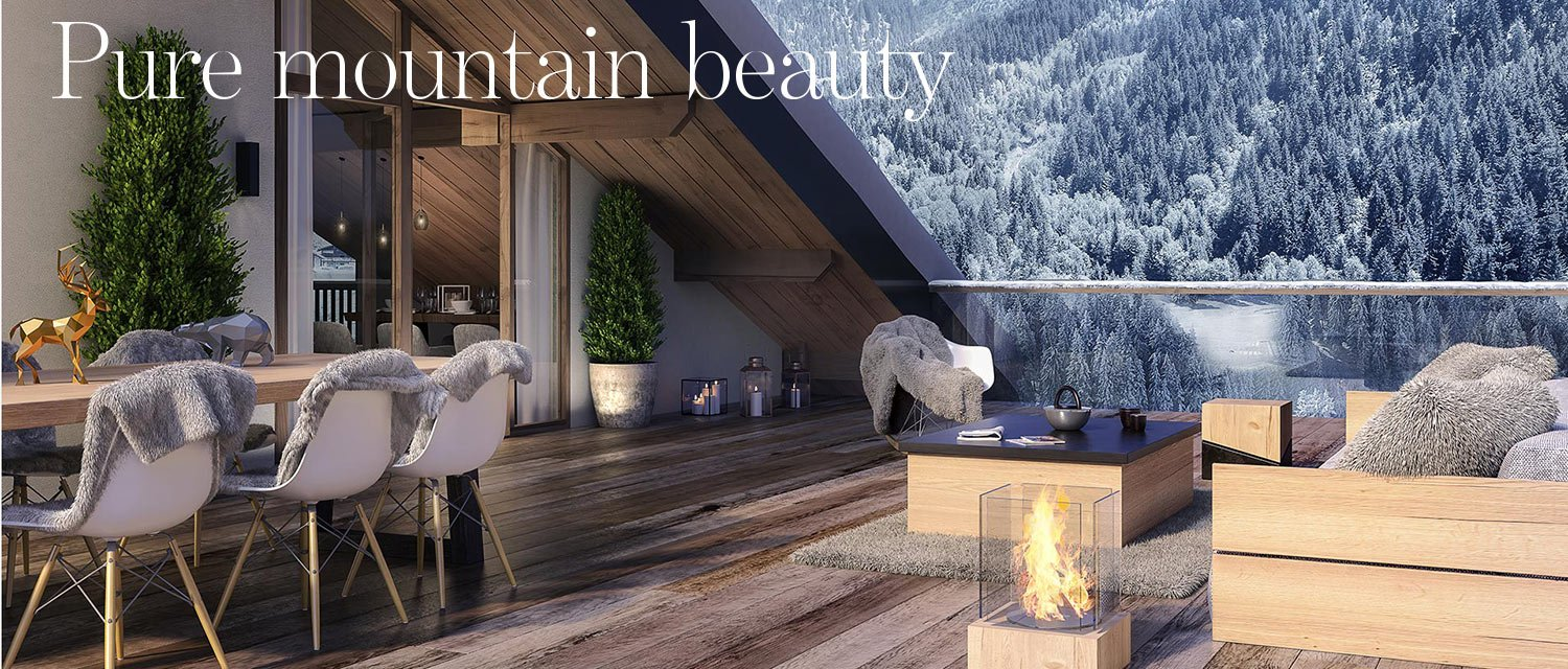 Pure mountain beauty - ski apartments in La Plagne