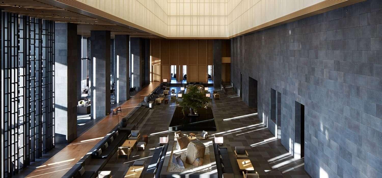 The lobby Aman Tokyo