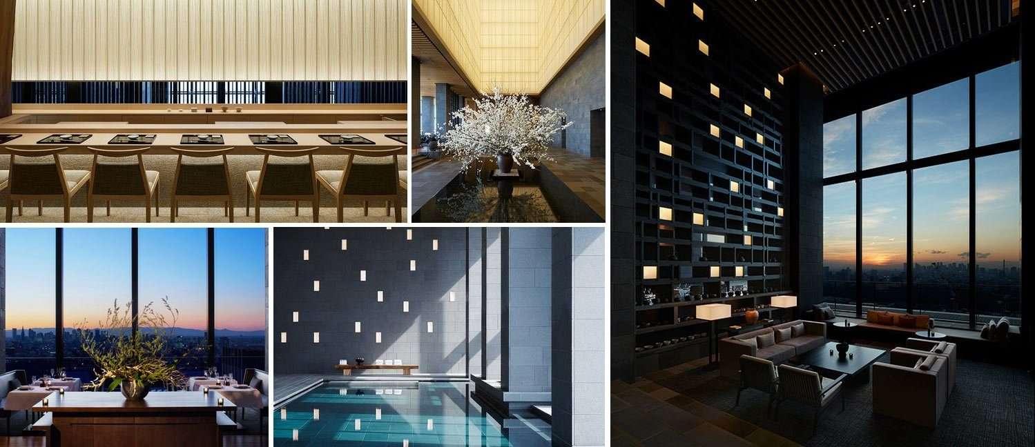 Collage - Aman Tokyo Interiors