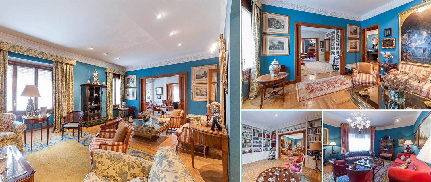 Image collage apartment in Chamberi Madrid