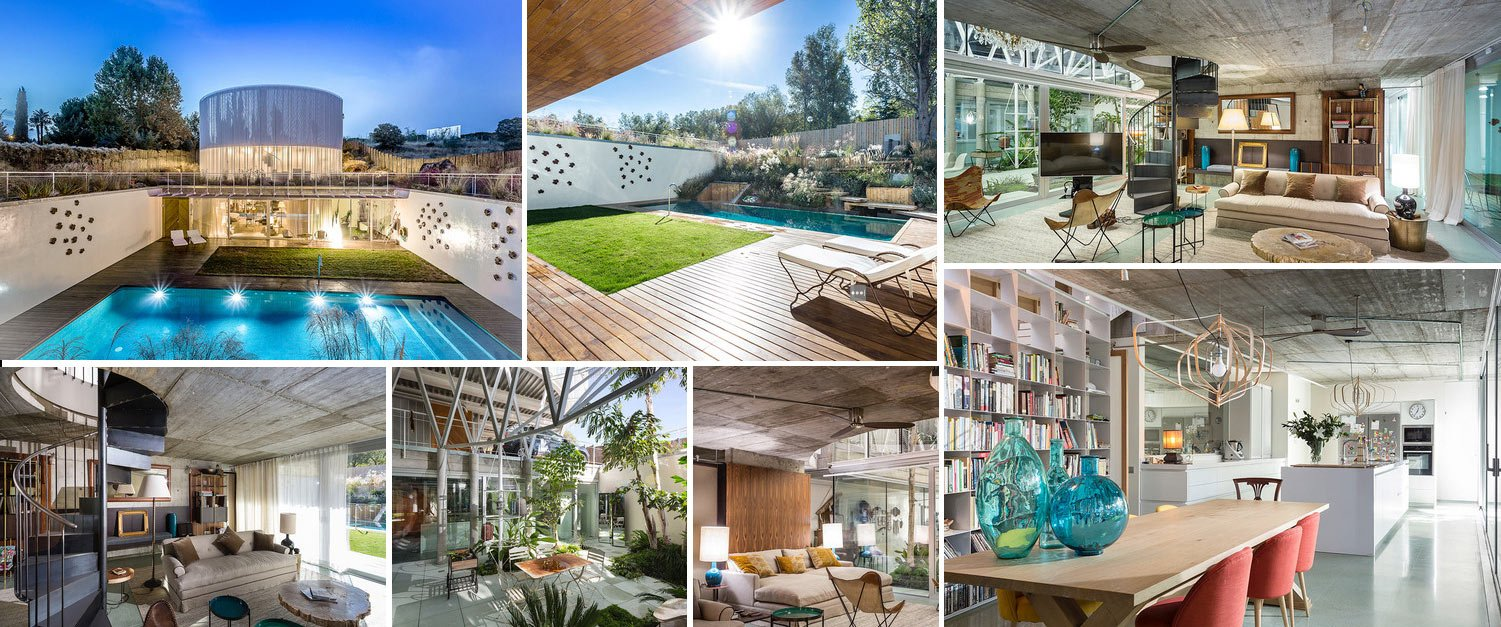 Image collage of house in Valdemarin Madrid