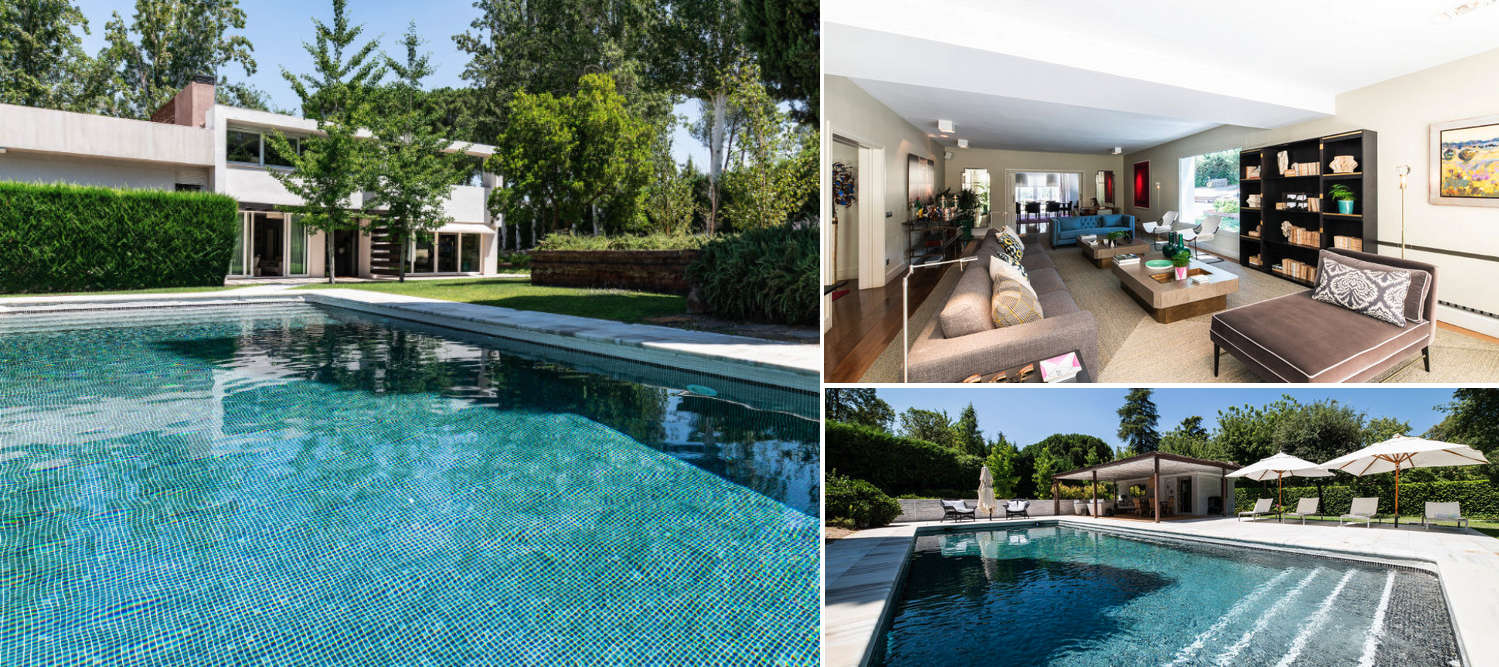Collage - villa for sale in Somosaguas Madrid
