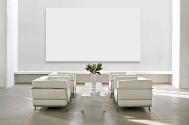 Frameless projector screen from Celexon