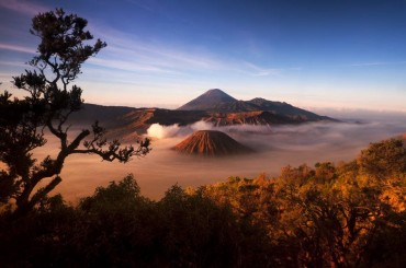 Mount Bromo volcanoes, East Java, Indonesia.