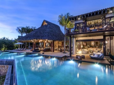 Villa Casa Koko in Punta Mita Mexico with the pool in the foreground