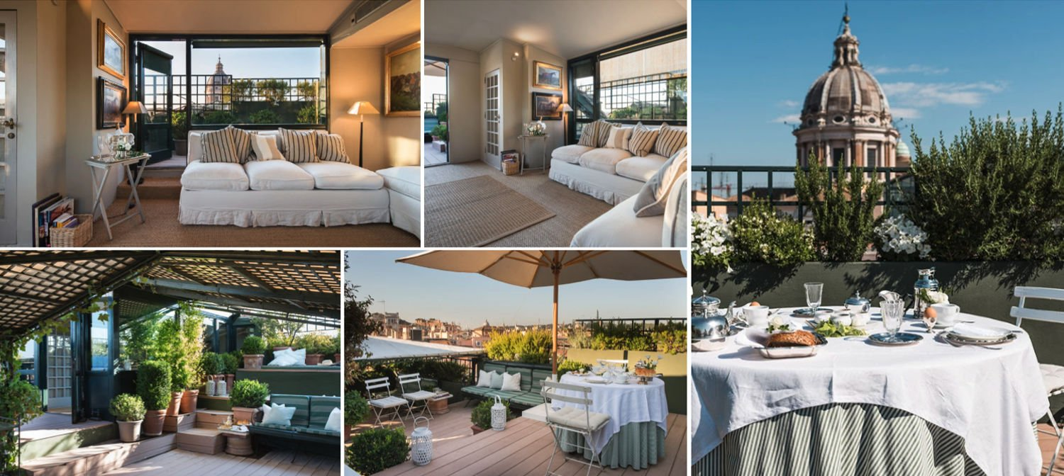 Collage of the Roof Garden Suite