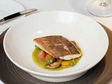 Pan-fried Sea Bream Restaurant Bohemia