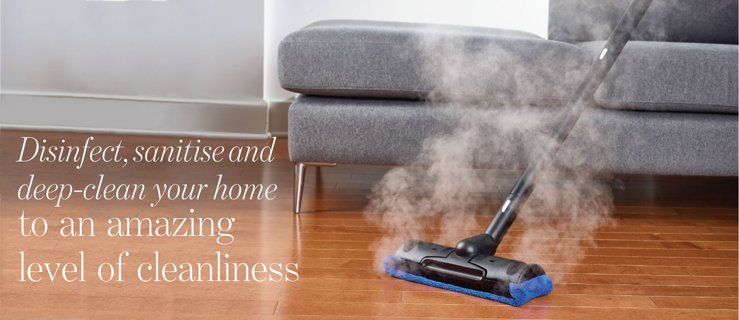 Steam cleanin of wooden floor at home