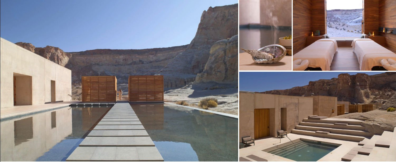 Collage of images from Amangiri Spa
