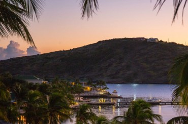 Small bay in Antigua early evening
