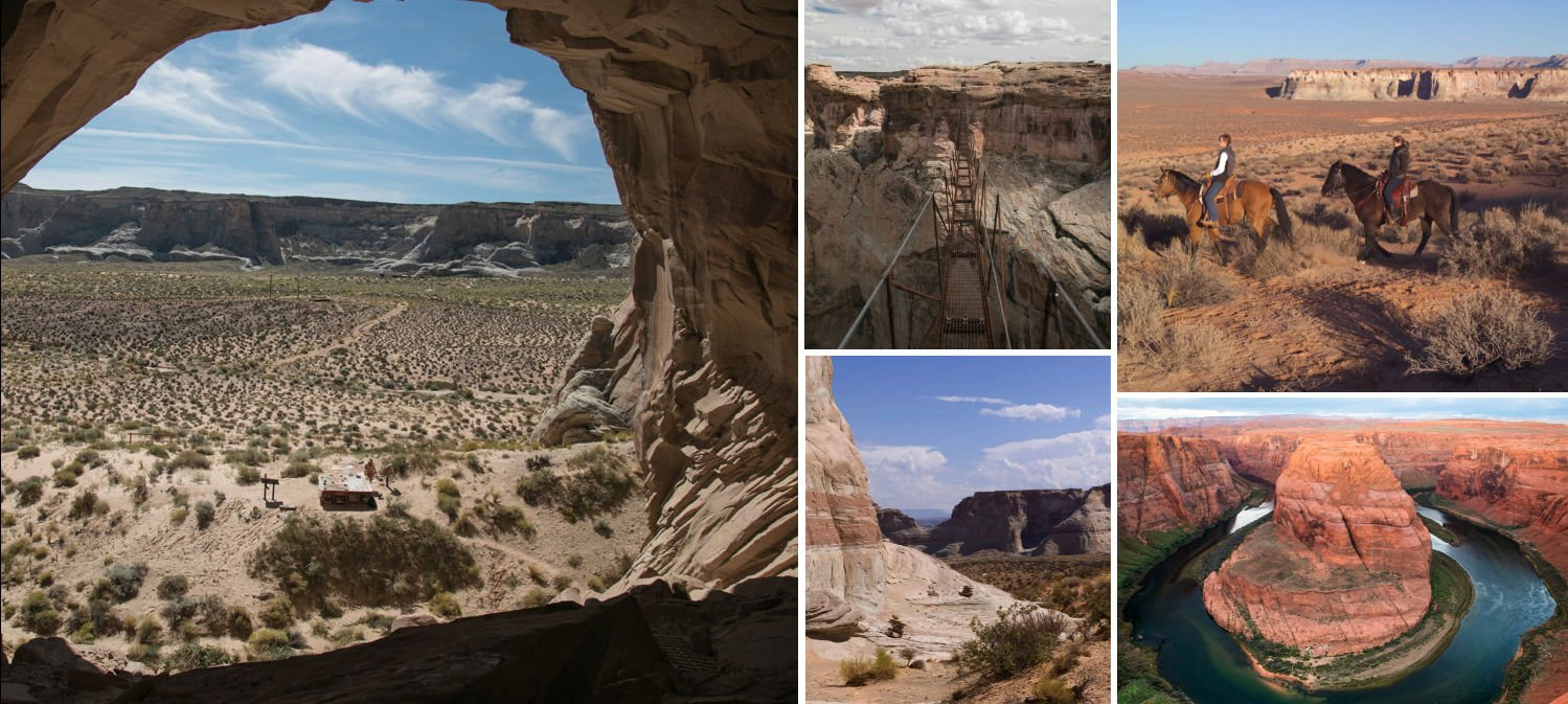 Collage of outdoor activities available in Canyon Point.