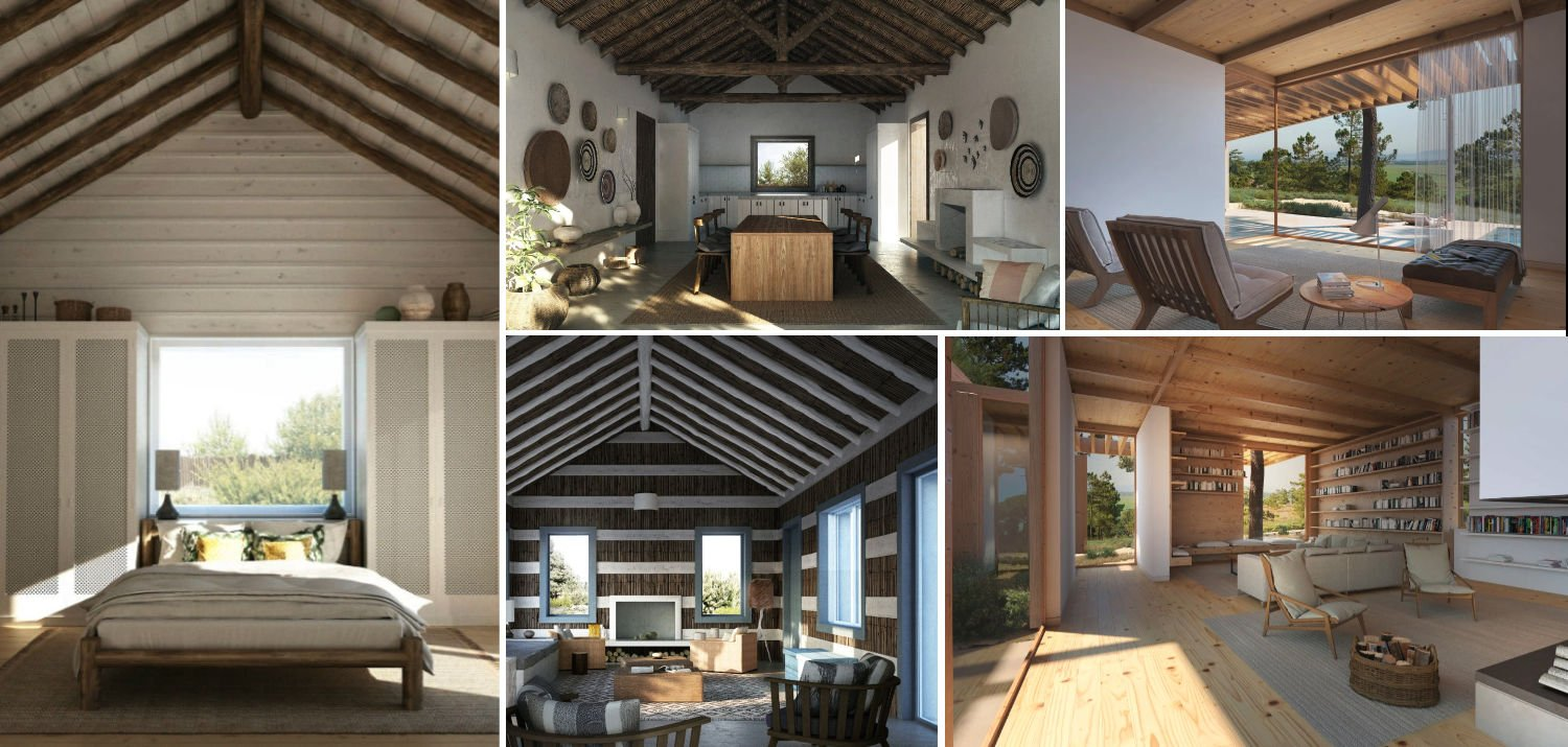 Collage of ideas for building your holiday home in Comporta Portugal