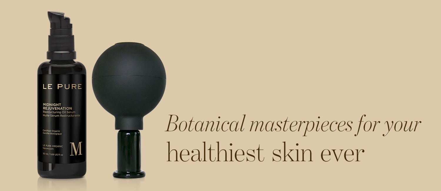 Le Pure Midnight Rejuvenation along with text 'Botanical masterpieces for your best skin ever'
